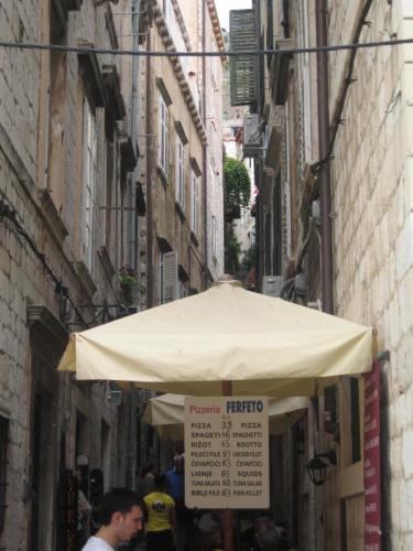 Narrow street in Croatia