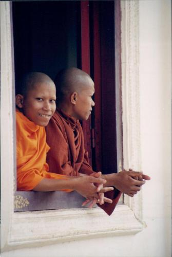 Novice young monks