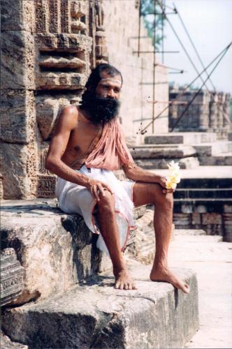 Sadhu at the Sun Temple, Bhubaneswar