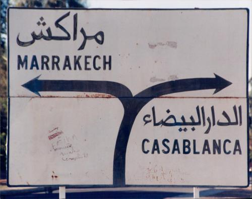 Marrakech-Casablanca-Sign