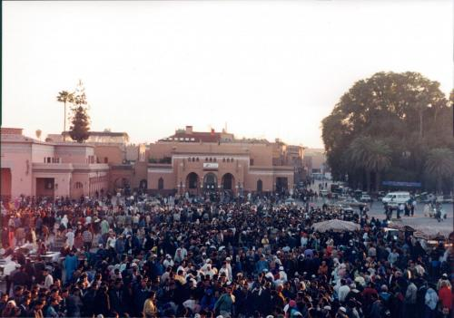 Place-Djemaa-el-Fna-at-dusk-Marrakech